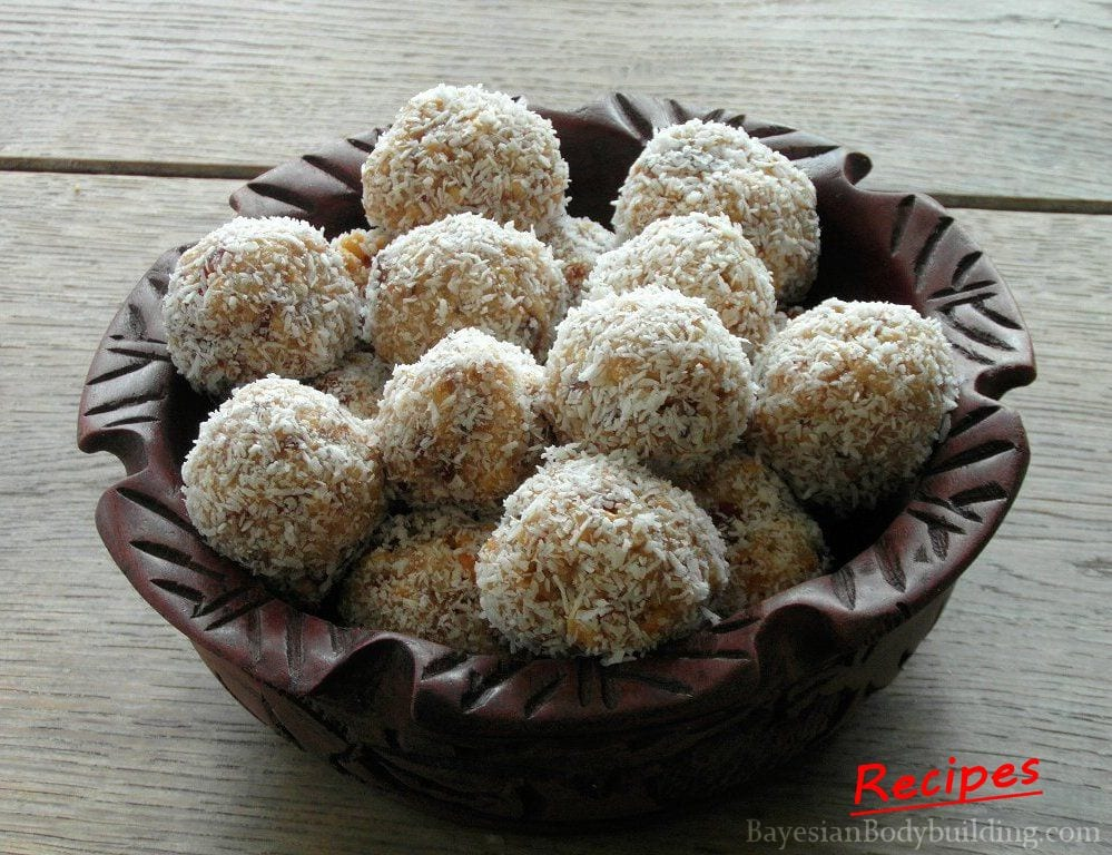 High calorie, healthy snack recipe: Oriental Truffels on Plate
