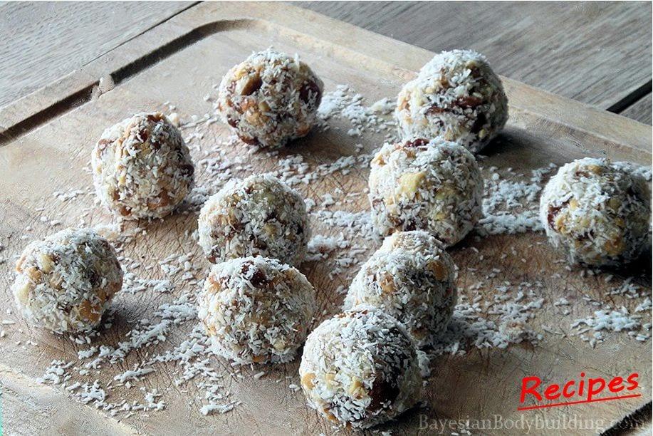 High calorie, healthy snack recipe: Oriental Truffels preparation step 2