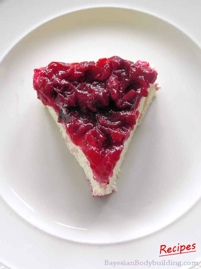 High Protein, Low Calorie Cheesecake Cranberry