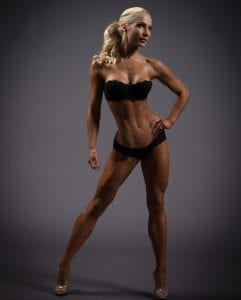Female fitness model