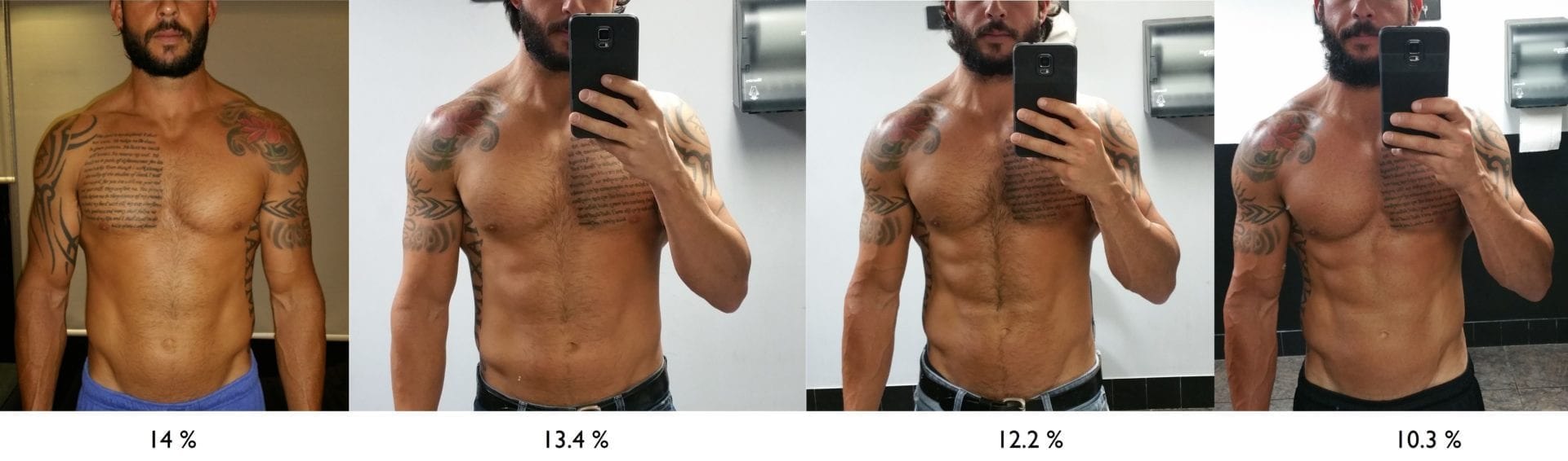 Nick 2 months 17 days body composition change