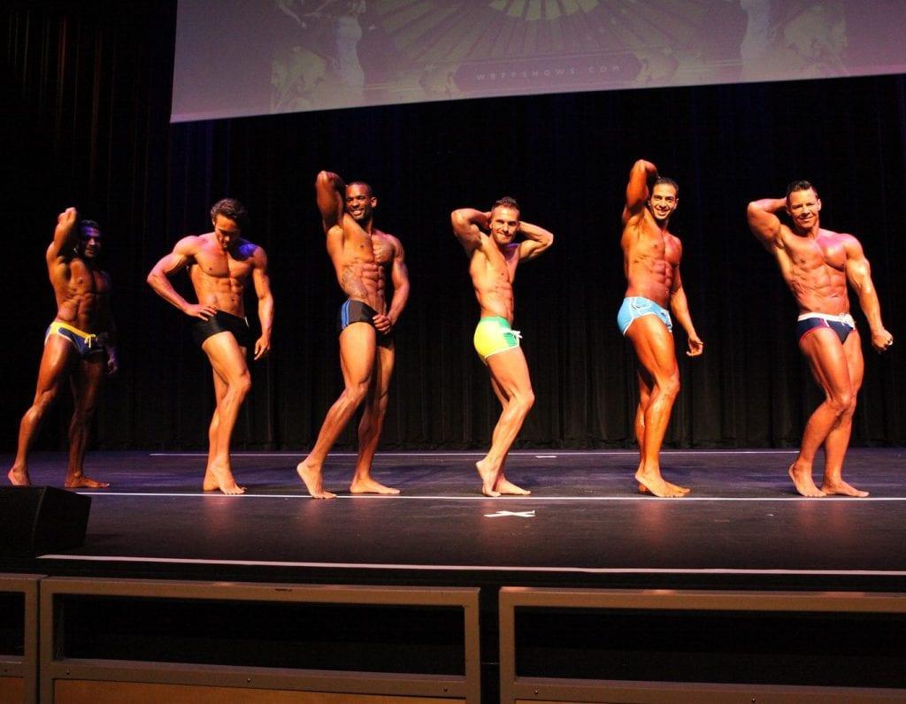 Menno Henselmans WBFF Men's Fitness Model side line-up