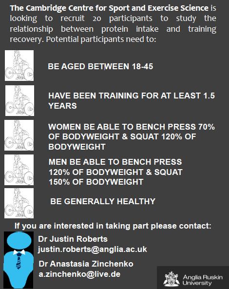 Protein study recruitment