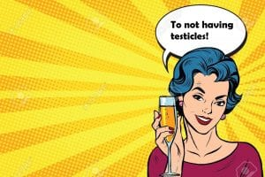 No testicles cheers