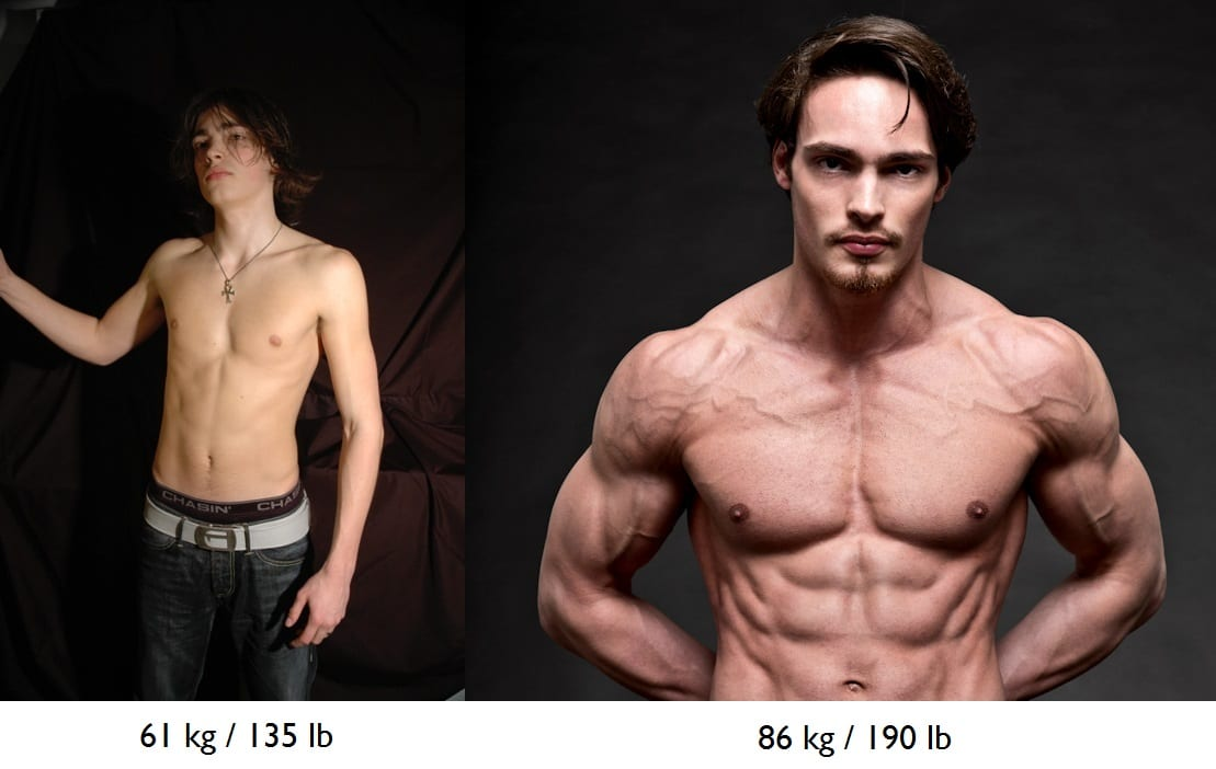 Menno Henselmans before after